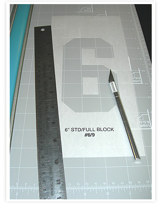 Number Stencils for Screen Printing